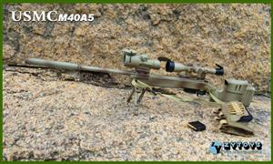 T07-25 1/6 Scale ZYToys Sniper Rifle USMC M40A5